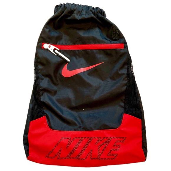 63edcf22ebe4 NIKE Drawstring Black & Red BackPack / Gym sack